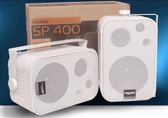 Caixa de Som Ambiente Branca DONNER SP 400 ( PAR)