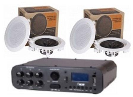 Amplificador SA100BT NCA ( Bluetooth ) + 2 Pares Caixa Gesso DR500
