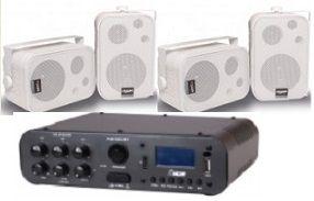 Amplificador SA100BT NCA ( Bluetooth ) + 2 Pares Caixa SP400 Branca