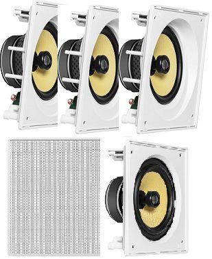 Caixa de Som JBL kit Home 5.0 com 3 cxs CI6SA e 2 cxs CI6S