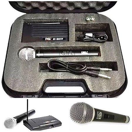 MICROFONE SEM FIO UHF  U-8017 JWL