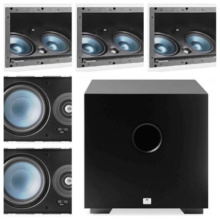 Kit Home 5.1 AAT ( 3 cxs LCR A100 + 2cxs LRE100 + Sub Comp Cube 8 )