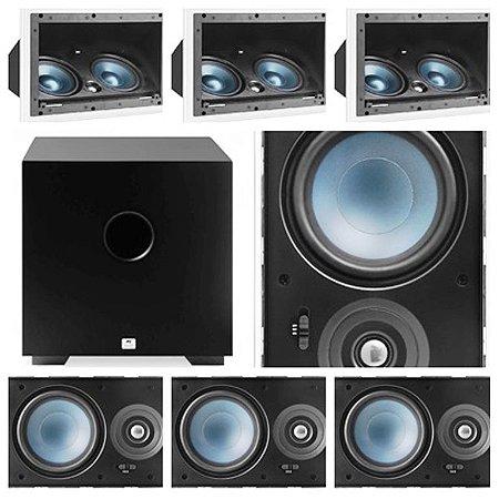 Kit Home 7.1 AAT ( 3 cxs LCR A100 + 4cxs LRE100 + Sub Comp Cube 8 )
