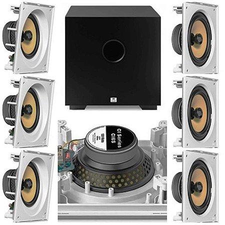 kit Home JBL 7.1- 3 cxs CI6SA e 4 cxs CI6S + Subwoofer Cube 8 AAT