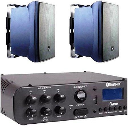 Amplificador NCA SA100BT Bluetooh + Par de caixa JBL C321P