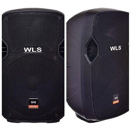 Caixa Acústica WLS S10 Ativa com Bluetooth + Caixa S10 Passiva