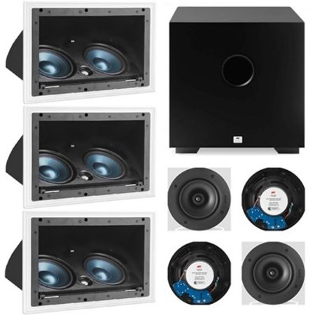 Kit Home 7.1 AAT - 3 cxs LCR A100+ 4cxs NQ6 100+ Sub Cube 8