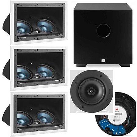 Kit Home 5.1 AAT -  3 cxs LCR A100 + 2 cxs NQ6 100 + Sub Comp Cube 8