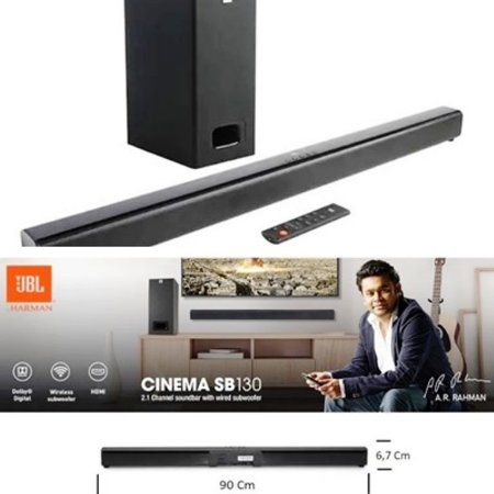 Soundbar JBL Cinema SB130 2.1 Bluetooth + Subwoofer com fio