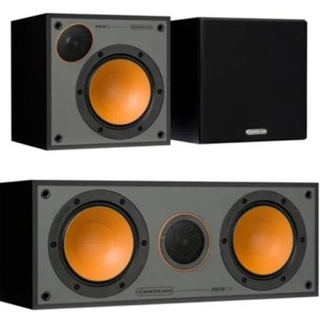 Caixa Monitor Audio Monitor 50 ( Par ) + Caixa Central C150 cor black