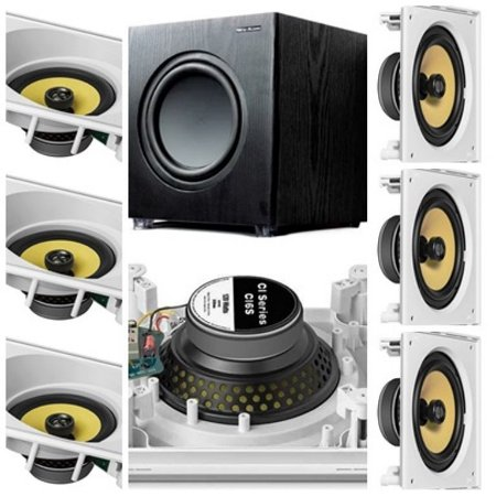 kit Home JBL 7.1- 3 cxs CI6SA e 4 cxs CI6S + Subwoofer Sub200 New Audio
