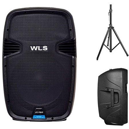 Caixa Acústica  WLS  J12 PRO Ativa + Pedestal ST002