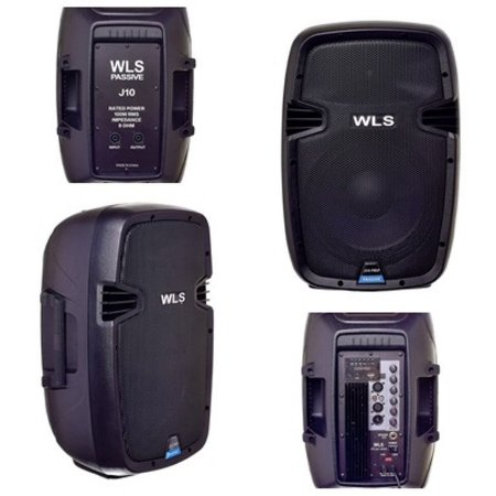 Caixa Acústica WLS  J10 PRO Ativa + Caixa J10 PRO Passiva