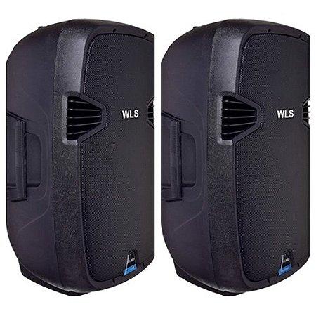 Caixa Acústica  WLS J15 PRO Ativa c/BT + Caixa Acústica  WLS J15 PRO Passiva