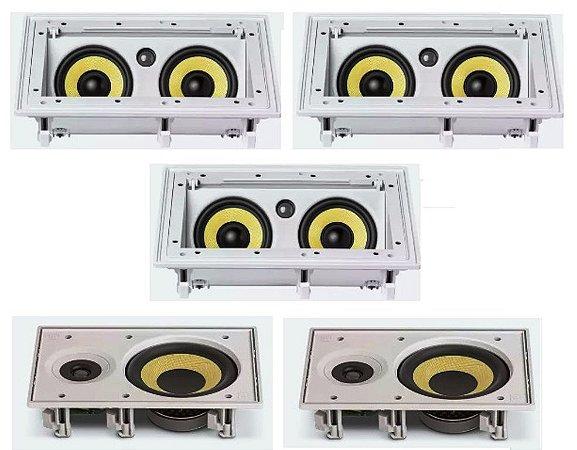 Kit Home JBL - 3 Caixas CI55RA + 2 Caixas Ci6R