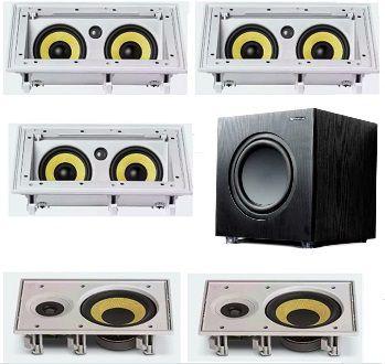 Kit Home JBL - 3 Caixas CI55RA + 4 Caixas Ci6R + Sub 200FD