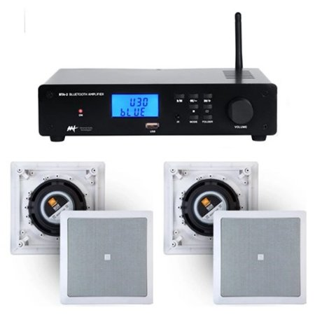 Amplificador AAT  BTA-2 Estéreo com Bluetooth + 4 Caixas JBL 6CO1Q