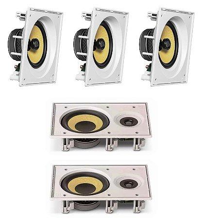 Caixa de Som JBL kit Home com 3 cxs CI8SA e 2 cxs CI6R