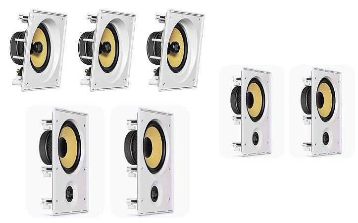 Caixa de Som JBL kit Home com 3 cxs CI8SA e 4 cxs CI6R