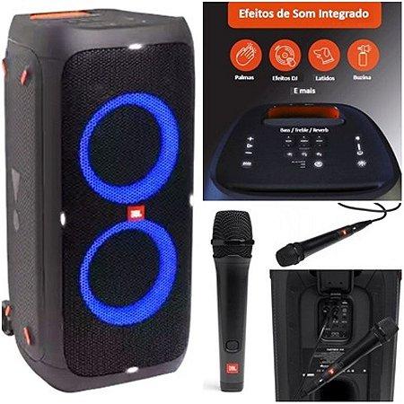 Caixa De Som Jbl Party Box 310 240w + Microfone JBL Karaokê