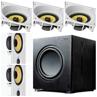 kit Home JBL 5.1- 3 cxs CI6SA e 2 cxs CI6R + Subwoofer Sub200 New Audio