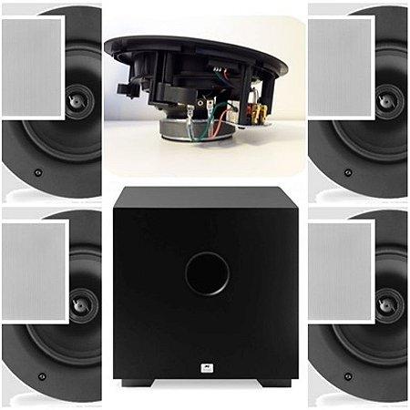 Kit Home 5.1 AAT ( 1 cxs NQ6 A100 + 4cxs NQ6100 + Sub Comp Cube 10 )