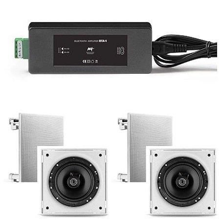 Amplificador AAT  BTA-1  ST + 4 Cxs Frahm 6CX 50w Rms  Cor Branca