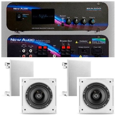 Amplificador New Áudio BIA 200 BT 2.1+4 Cxs Frahm 6CX Branca