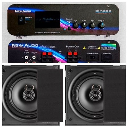 Amplificador New Áudio BIA 200 BT 2.1 +2 Cxs Frahm 6CX Black