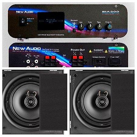 Amplificador New Áudio BIA 200 BT 2.1 st  + 4 Cxs Frahm 6CX