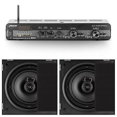 Amplificador Frahm Slim 2700 Óptico c/ zona 2 + 4Cxs 6CXP 50