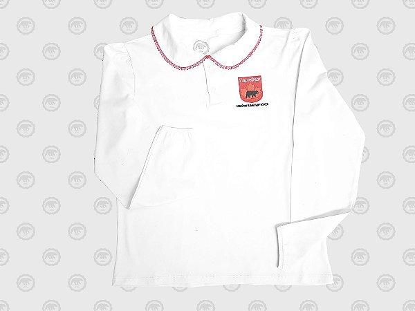 Camiseta Polo Feminina M/L 100% Algodão Fundamental