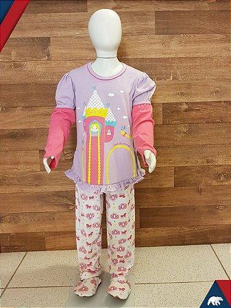 Pijama Rapunzel Longo M/Malha