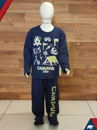 Pijama Camping Longo M/Malha