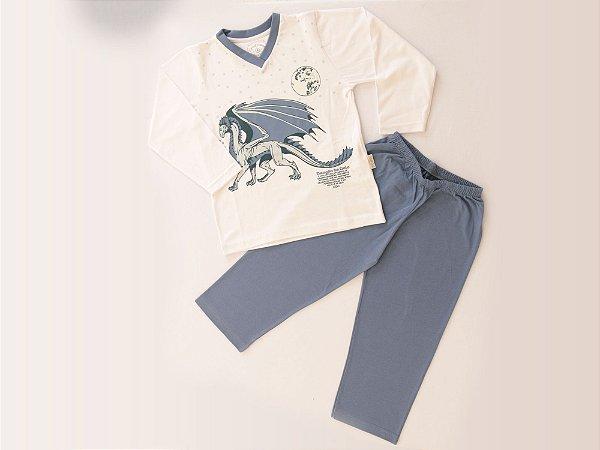 Pijama Dragão de Gelo Longo M/Malha