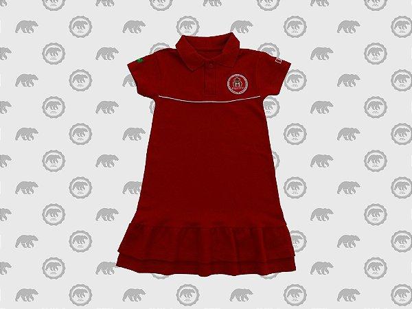 Vestido Piquet Infantil Uniforme Maple Bear