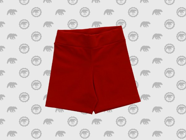 Short Para Vestido Infantil Suplex Uniforme Maple Bear