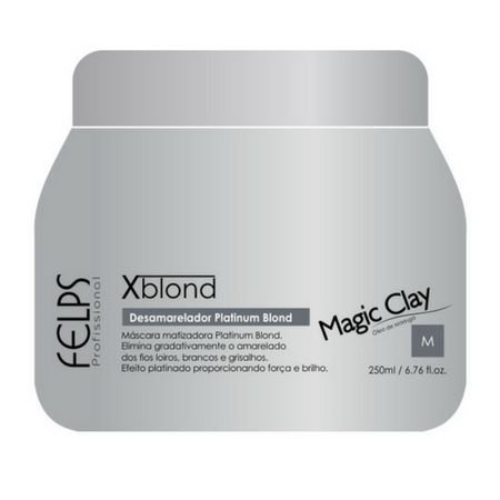 Máscara Xblond Desamareladora 250g Magic Clay Felps