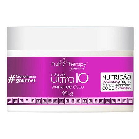 Máscara de Nutrição Manjar de Coco 250g Fruit Therapy Gourmet Left Cosméticos