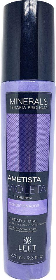 Condicionador Ametista Violeta 275ml Minerals Terapia Preciosa - Left Cosméticos