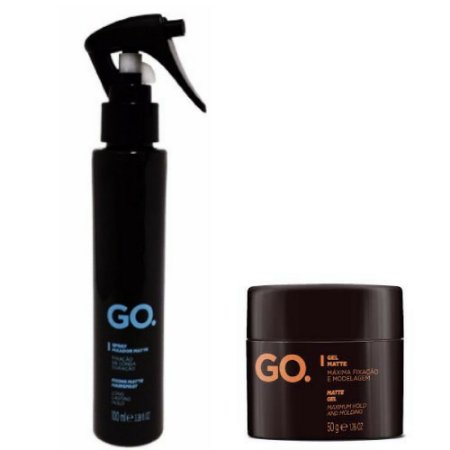 Kit Spray Fixador Matte 100ml + Gel Matte 50g GO.