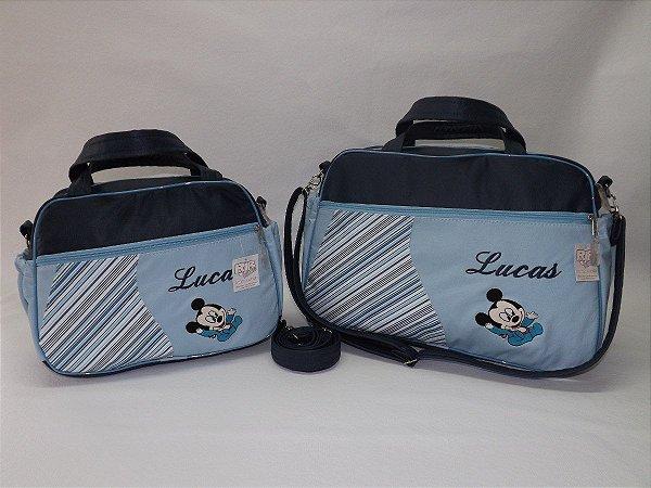 522feb157 Kit Bolsas Maternidade Linha Baby Classic Azul Marinho/Azul Bebê 2 peças