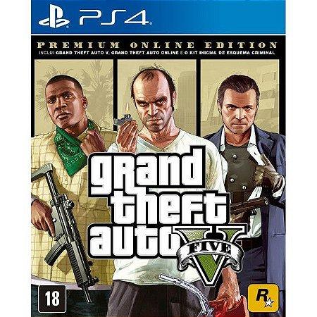 Grand Theft Auto V Premium Online Edition GTA V GTA 5 para PS4