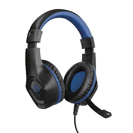 Headset Fone Gamer Ps4 Xbox Ps5 Pc Gxt 404B Rana Azul Trust