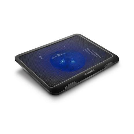 """Suporte para Notebook até 17"""" com Cooler Slim Preto com Led AC263 USB Multilaser"""