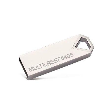 Pen Drive 64 GB Diamond Metálico USB 2.0 PD852 Multilaser