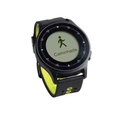 Monitor Cardíaco Sportwatch Chronus Touch Screen com GPS à prova d'água Preto Atrio ES252