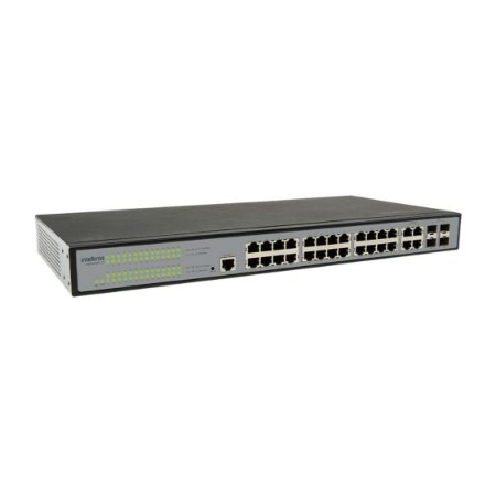 Switch Gerenciável 24P Giga + 4P GBIC  SG 2404 MR L2+ Intelbras