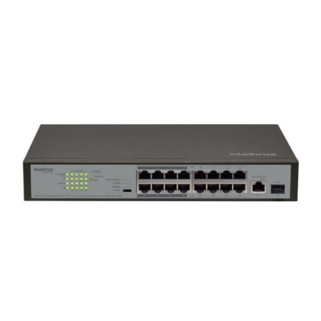 Switch 16P Fast PoE com 1P Gigabit SF 1811 PoE Intelbras