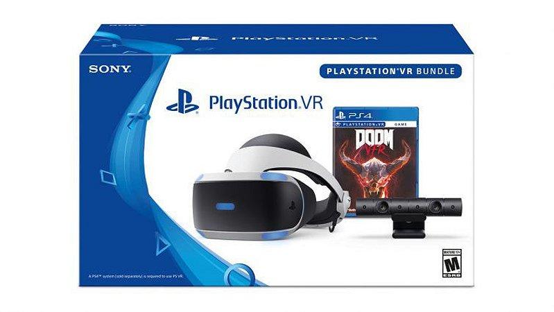 Playstation VR - Modelo Novo (acompanha a camera + jogo)
